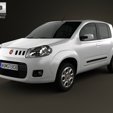 Fiat Uno Attractive hatchback 5-door 2013 3D Model
