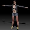 08 11 17 698 photorealistic 3d girl leather jacket hotpants jeans cute sexy woman avatar 3d full body scan 360 7 4