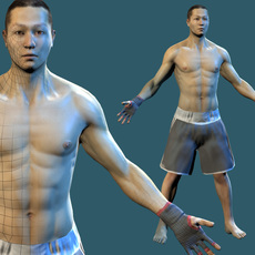 boxer / fighter asian 3D Model