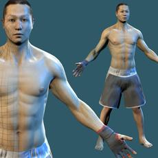boxer / fighter asian 3D Model