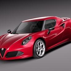 Alfa Romeo 4c 2014 3D Model