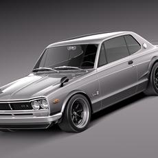 Nissan Skyline 1968-1972 3D Model