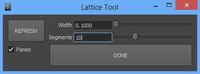 Lattice Tool 2.0.0 for Maya (maya script)