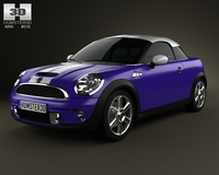 Mini Cooper S coupe 2013 3D Model