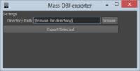 Mass OBJ Exporter 0.1.0 for Maya (maya script)
