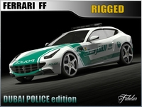 Ferrari FF Dunai police 3D Model