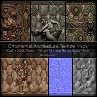 Ornamental Architecture Texture Maps