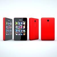 Nokia Asha 501 3D Model
