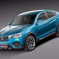 BMW X4 concept 2014 3D Model