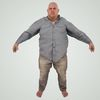 08 15 22 12 large guy fame ready low poly fat bald shirt bare feet 3d model 1 4