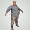 08 15 22 189 large guy fame ready low poly fat bald shirt bare feet 3d model 3 4