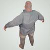 08 15 22 282 large guy fame ready low poly fat bald shirt bare feet 3d model 4 4