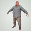 08 15 22 76 large guy fame ready low poly fat bald shirt bare feet 3d model 2 4