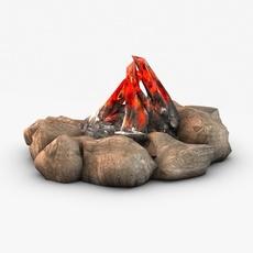 Bonfire camp 3D Model 3D Model