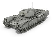 Churchill Infantry Tank MK.III 3D Model