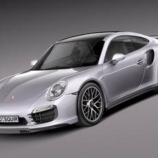 Porsche 911 Turbo S 2014 3D Model