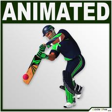 Hi-Poly Cricket Player Batter 3D Model