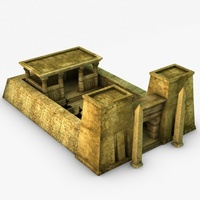 Low poly egyptian temple 3D Model