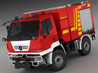 Mercedes Unimog U20 Fire Engine 3D Model