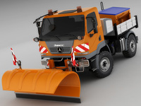 Mercedes Unimog U20 Snow Removal 3D Model