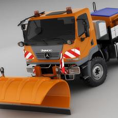 Mercedes Unimog U20 Snow Removal 3D Model