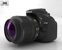 Nikon D5200 3D Model