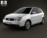 Volkswagen Polo Mk4 3-door 2001 3D Model