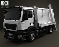 MAN TGS Skip Loader Truck 2012 3D Model