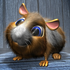 Cartoon Hamster RIGGED 3D Model