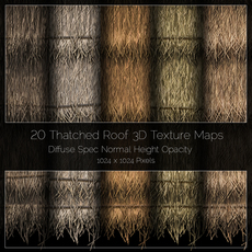 Thatched Roof Texture Maps