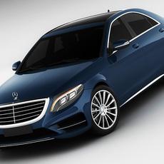 Mercedes S-class 2014 AMG line 3D Model