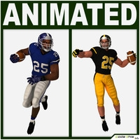 American Football Players Pack 3D Model