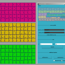 Jigsaw puzzle maker for Maya 1.0.0 (maya script)