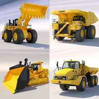 Collection Mining Machines 1 3D Model