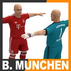 Football Player and Goalkeeper - FC Bayern Munchen 3D Model