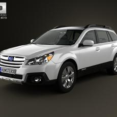 Subaru Outback limited US 2013 3D Model