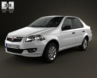 Fiat Siena 2013 3D Model