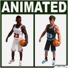 Basketball Players Collection 3D Model