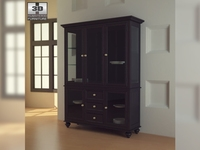 Black Camden China Cabinet - Lea American Drew 3D Model