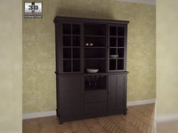 Buffet and Hutch in Ebony - Arts and Crafts 3D Model