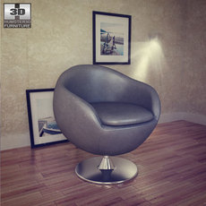 Occasional Chair - Bounce Armchair - Zuo Modern 3D Model