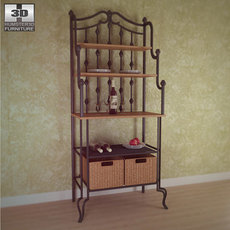Saint Pierre Bakers Rack - Southern Enterprises 3D Model