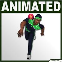 Hi-Poly Cricket Player Bowler 3D Model