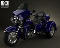 Harley-Davidson Tri Glide Ultra Classic 2012 3D Model