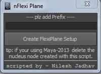 Free nFlexiPlane for Maya 1.1.1 (maya script)