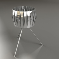 modern night stand mirrored lamp 3D Model