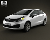 Kia Rio (US) sedan 2012 3D Model