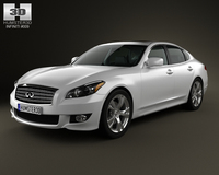 Infiniti M with HQ interior 2011 3D Model