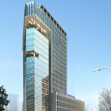 s skycraper Building with city 3D Model