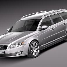 Volvo V70 2014 3D Model